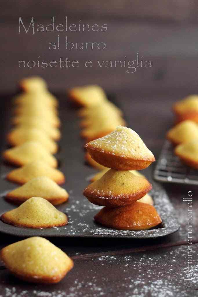 Ricetta: Madeleines al burro noisette e vaniglia