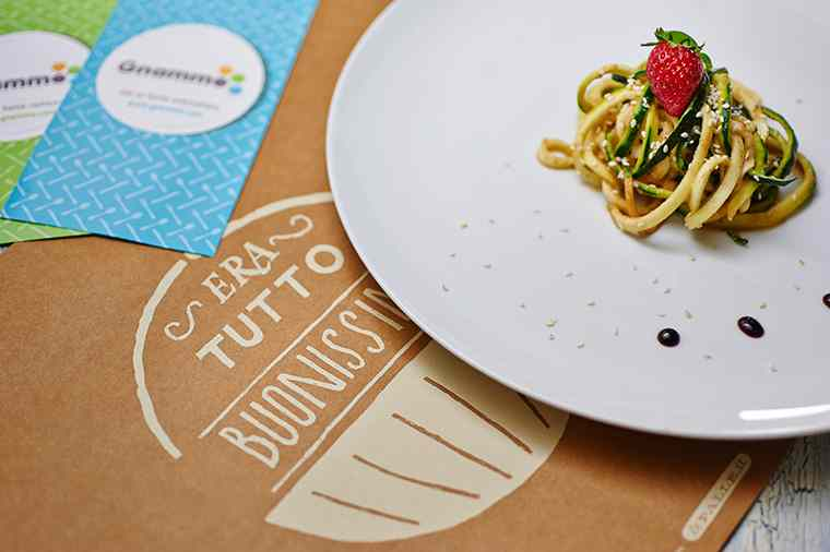 Ricetta: Spaghetti di zucchine in salsa fragola