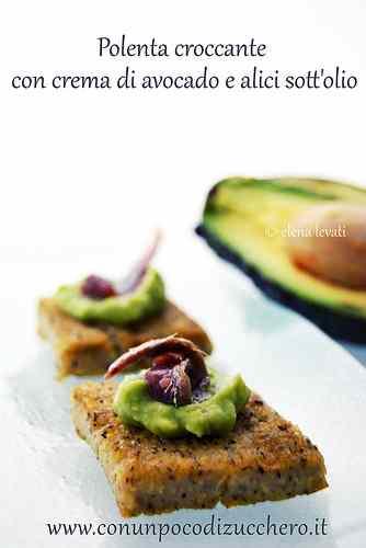 Ricetta: I love Recycling: polenta croccante con crema di avocado e alici
