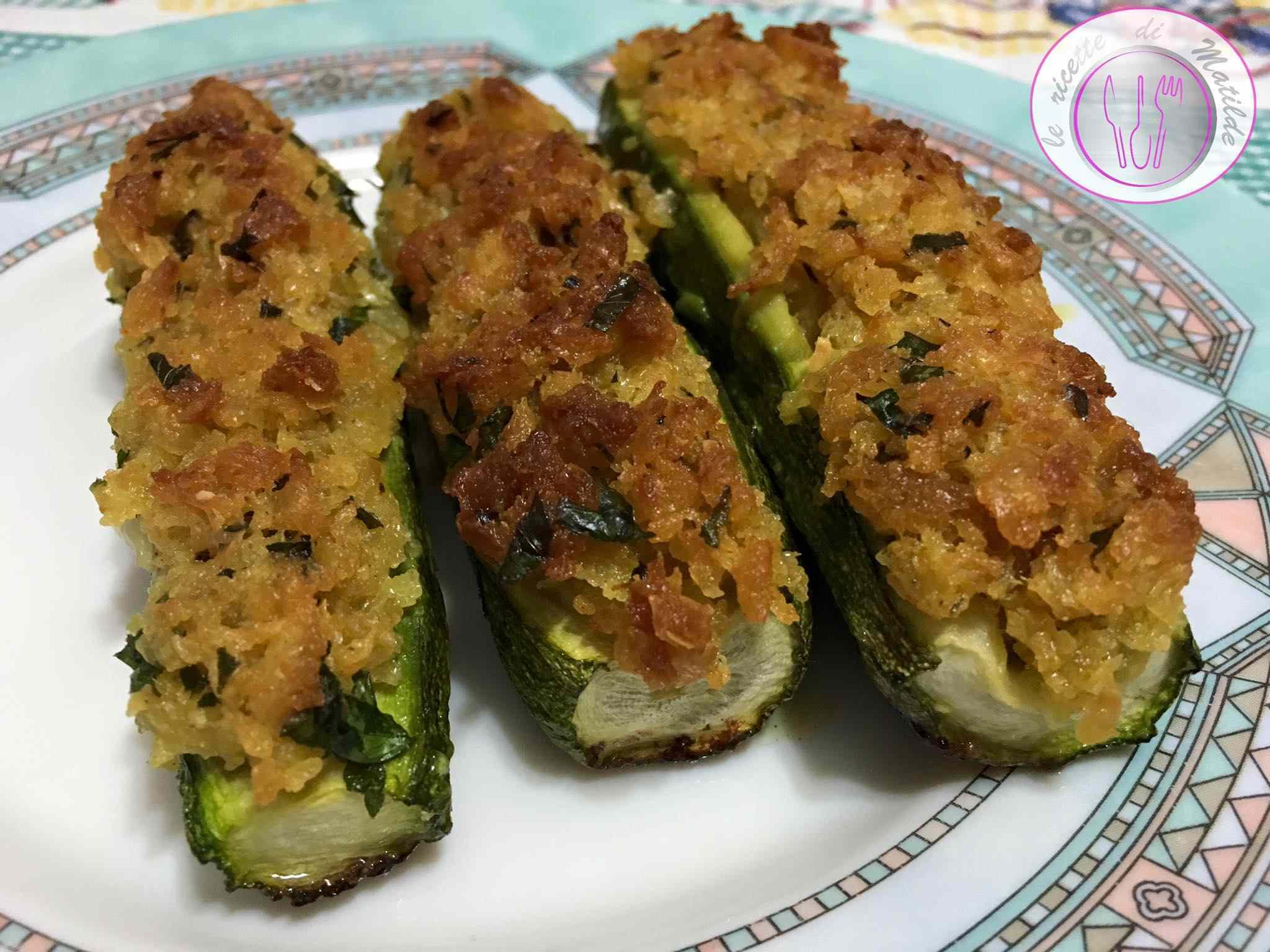 Ricetta: Zucchine ripiene con mollica croccante