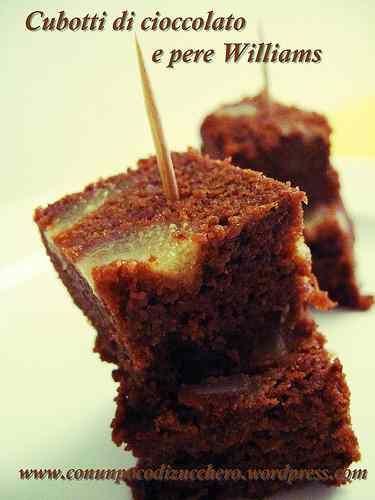 Ricetta: Cubotti di cioccolato e pere Williams