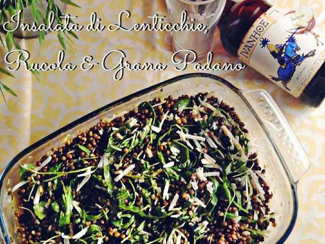 Ricetta: Insalata di Lenticchie, Rucola & Grana Padano
