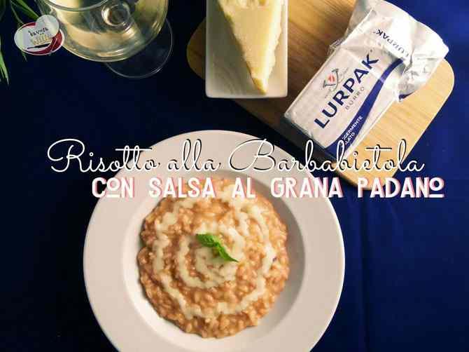 Ricetta: Risotto alla barbabietola con salsa al grana Padano