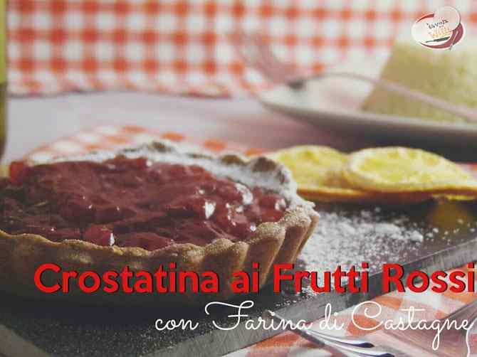 Crostatina ai frutti rossi con farina di castagne