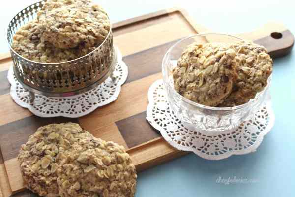 La ricetta dei biscotti d'avena al cioccolato