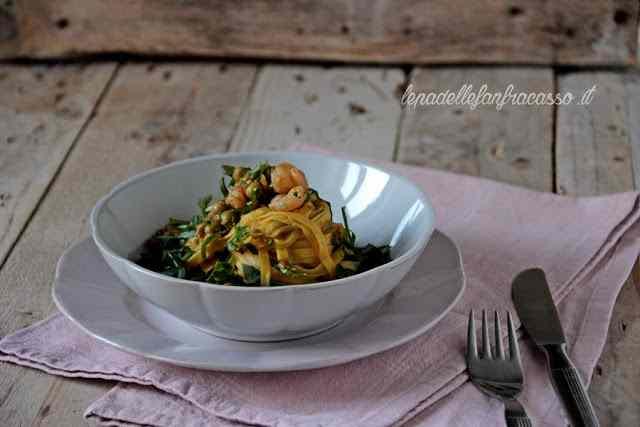 Ricetta: Fettuccine di campofilone ai gamberetti