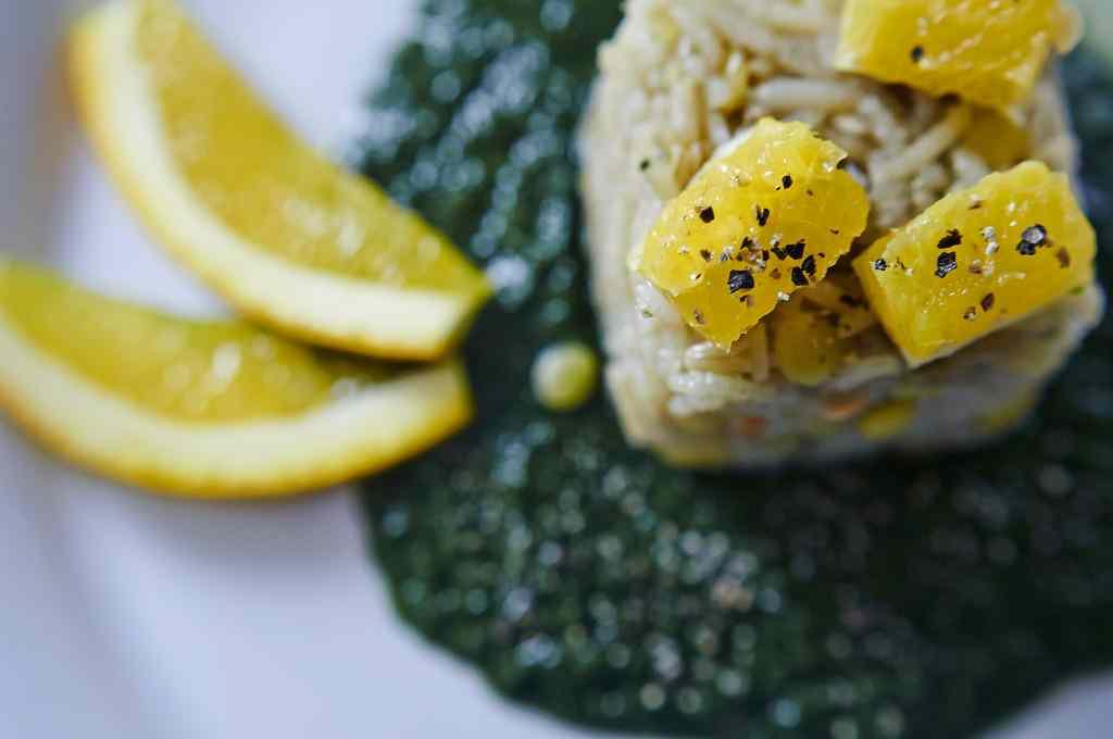 Ricetta: Cereali e spinaci all'arancia