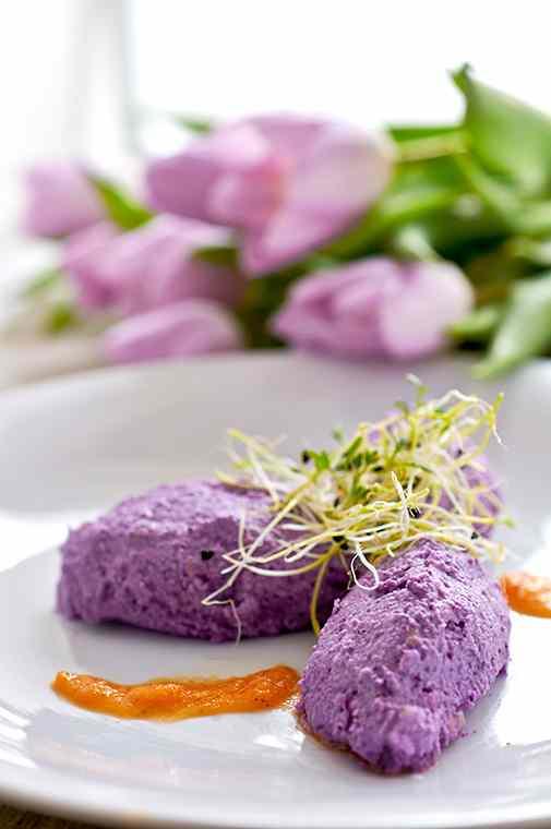 Ricetta: quenelle di cavolo viola