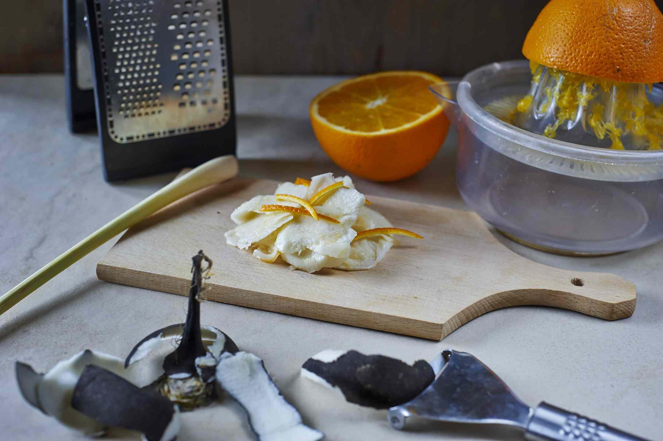 Ricetta: rafano nero all'arancia e lemon grass