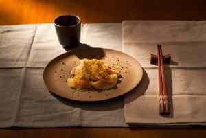 Rawioli di daikon con carote e curcuma