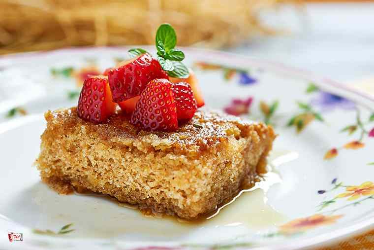 Ricetta: torta semplice con sciroppo all'arancia