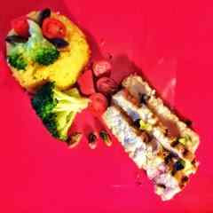 Ricetta: Trancio di spada grigliato con cus cus di mais ai broccoli e pomodorini