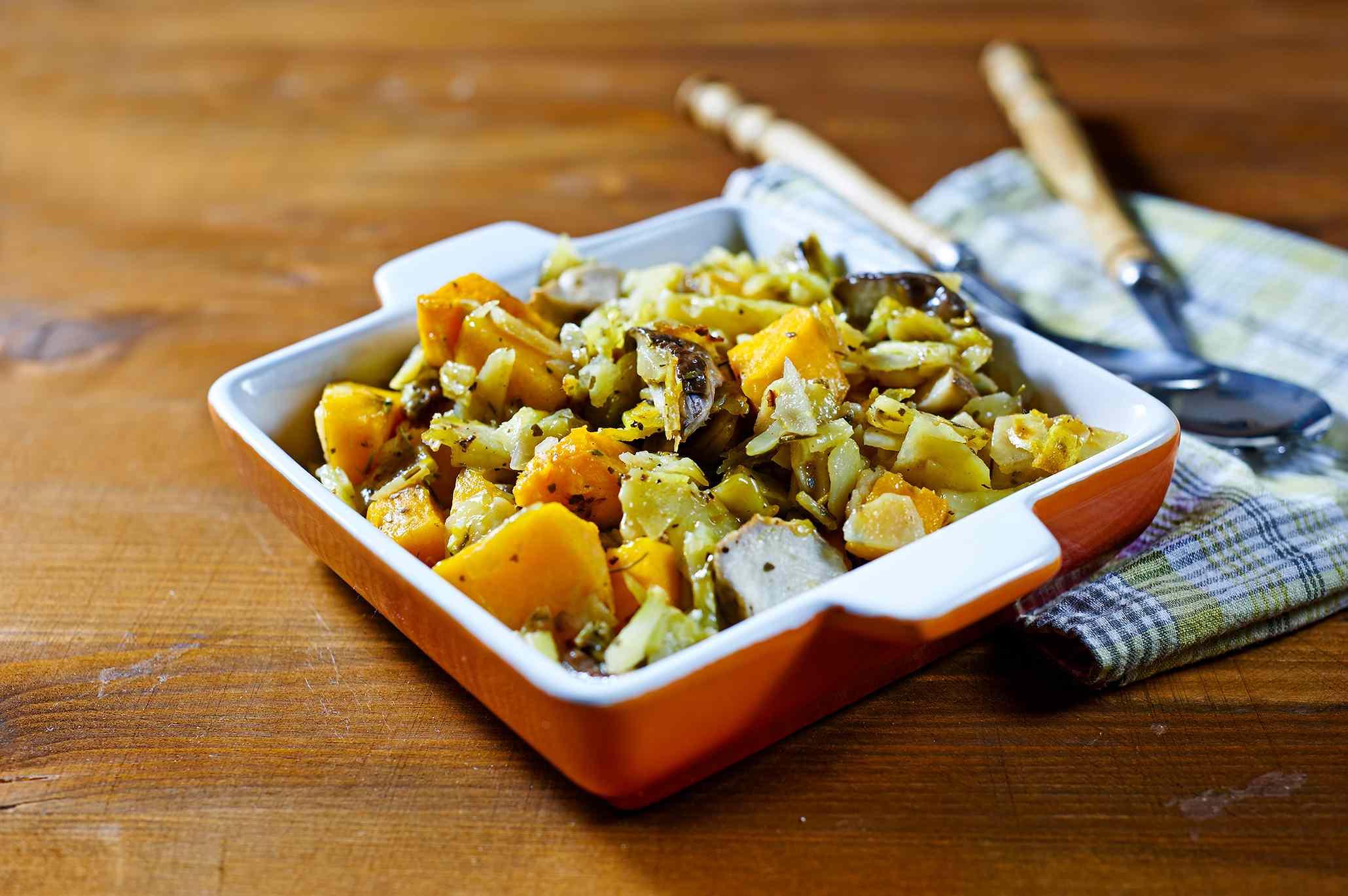 Ricetta: zucca patate e funghi