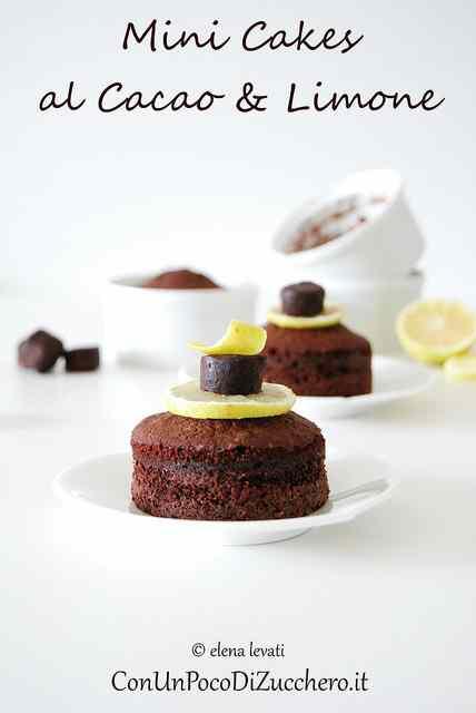 Ricetta: Mini cakes al cacao e limone