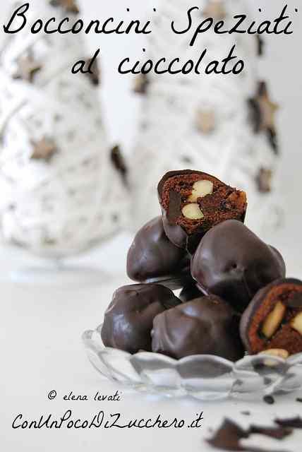 Ricetta: Bocconcini speziati al cioccolato (con frutta secca e candita)