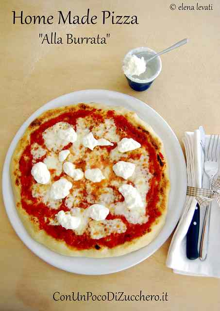 Ricetta: Pizza fatta in casa: alla Burrata