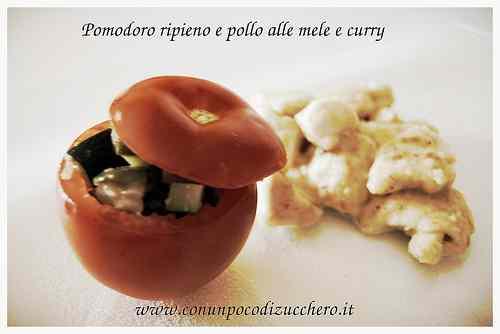 Ricetta: Pomodoro ripieno di verdure e pollo alle mele e curry