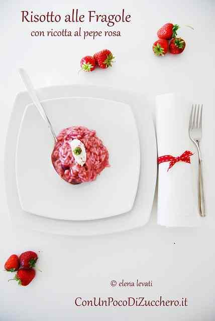 Ricetta: Risotto alle fragole e ricotta al pepe rosa