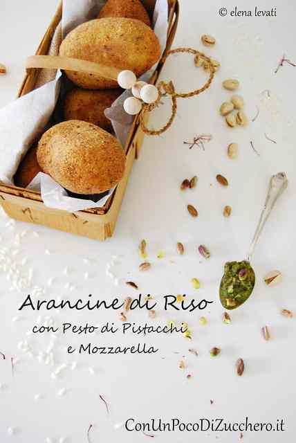 Arancine di riso siciliane: con pesto di pistacchi e mozzarella