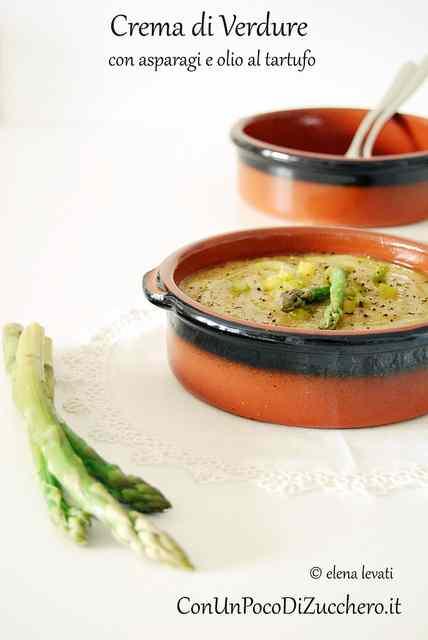 Ricetta: Crema di verdure con asparagi