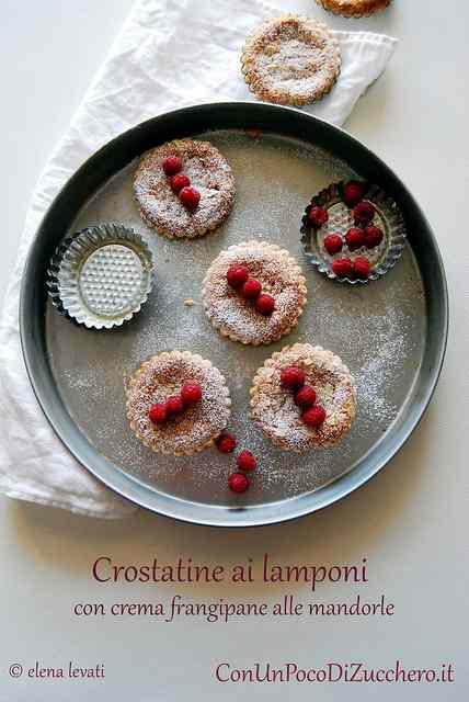 Ricetta: Crostatine ai lamponi e frangipane alle mandorle: UnLampoNelCuore