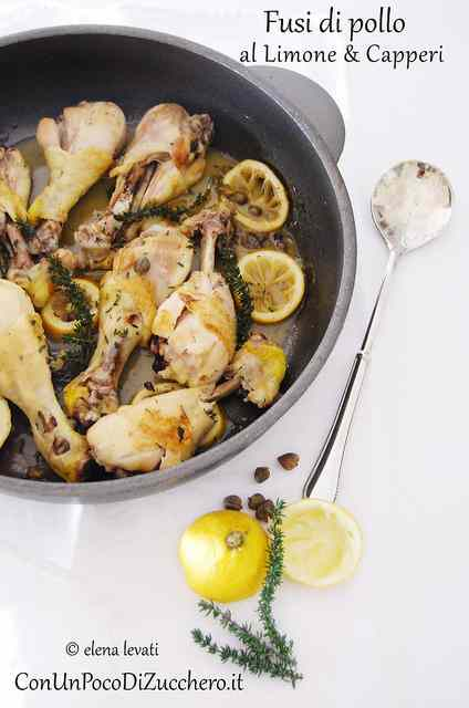 Ricetta: Fusi di pollo al limone e capperi