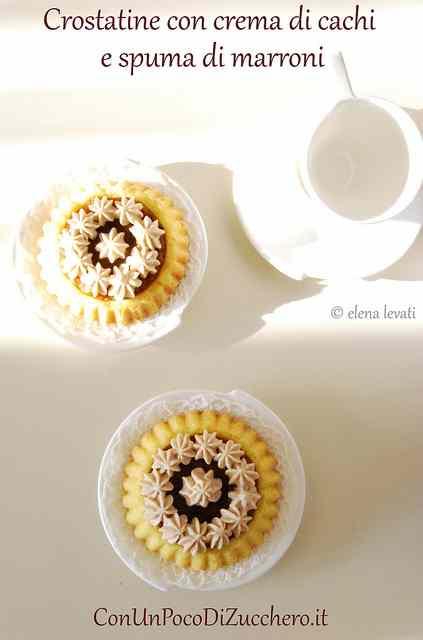 Ricetta: Crostatine con cachi e marroni