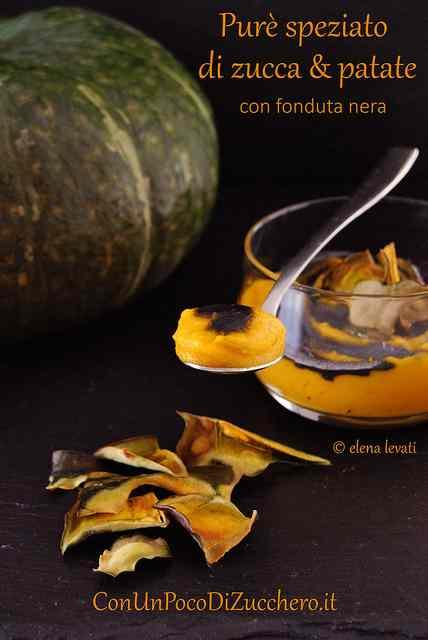 Ricetta: Pure speziato di zucca con fonduta nera