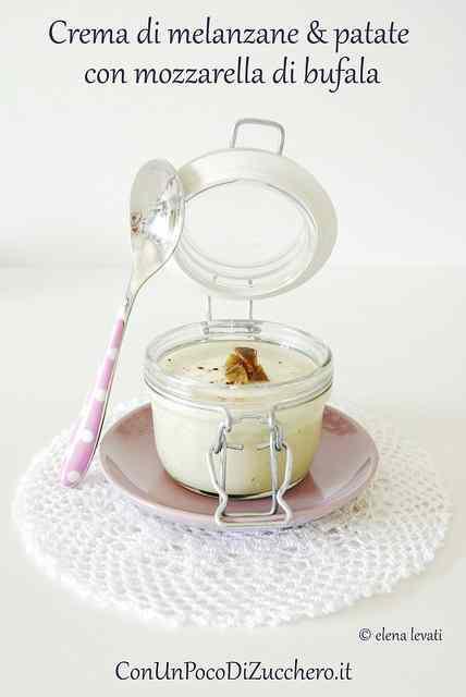 Ricetta: Crema di melanzane e patate con mozzarella di bufala