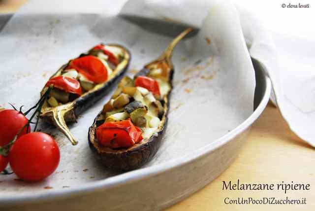 Ricetta: Melanzane ripiene di verdure e mozzarella