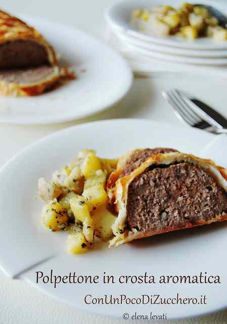 Ricetta: Polpettone in crosta di sfoglia con patate e topinambur al forno