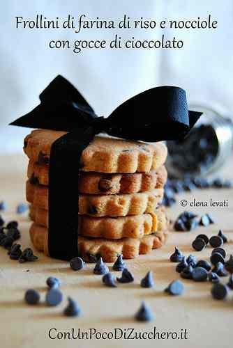 Ricetta: Biscotti di Farina di riso, nocciole e cioccolato