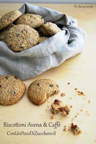 Ricetta: Biscotti di avena choco-coffee