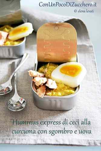 Ricetta: Hummus express di ceci con sgombro e uova