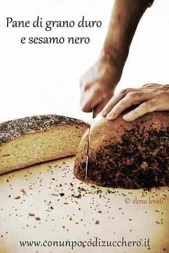 Ricetta: Lunga Lievitazione: Pane di grano duro e sesamo nero