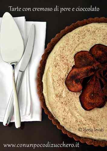 Ricetta: Crostata con cremoso di pere e cioccolato