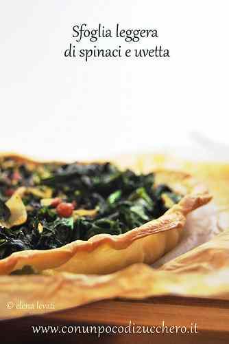 Ricetta: Sfoglia light con spinaci e uvetta