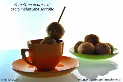 Ricetta: Fast and easy: Polpettine express di ceci e melanzane