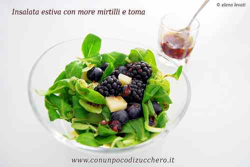 Ricetta: Insalata d'estate con more e mirtilli