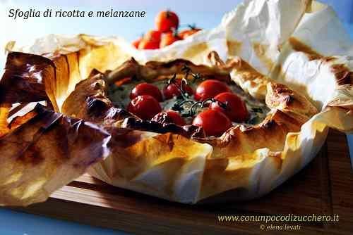 Ricetta: Torta salata di ricotta, melanzane e pomodorini