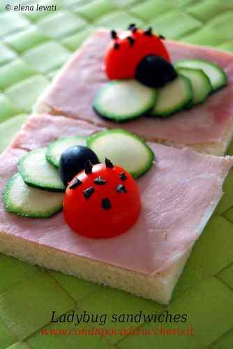 Ricetta: Ladybug sandwiches!