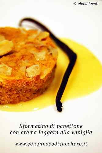 Ricetta: Sformatini di panettone con crema leggera alla vaniglia