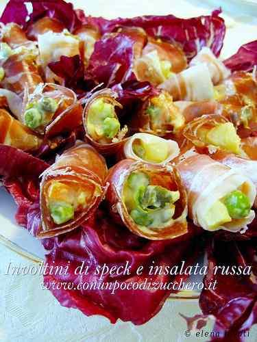 Ricetta: Involtini di speck e insalata russa