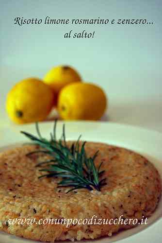 Ricetta: Risotto al salto: limone, rosmarino e zenzero
