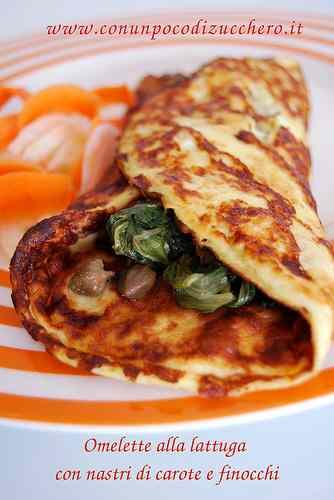 Ricetta: Omelette con lattuga spadellata