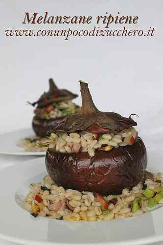 Ricetta: Melanzane ripiene di orzo alle verdure