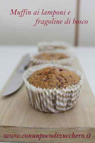 Ricetta: Muffin ai lamponi e fragoline di bosco