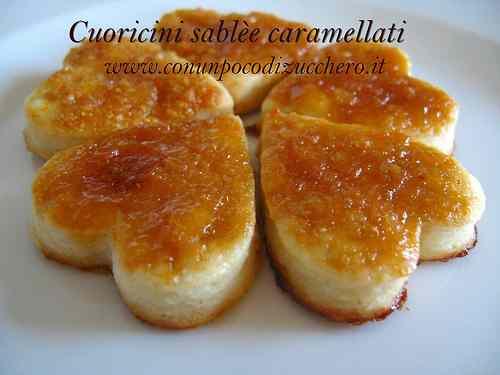 Ricetta: Cuoricini sablee caramellati