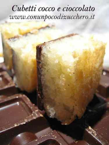 Ricetta: Cubetti cocco e cioccolato