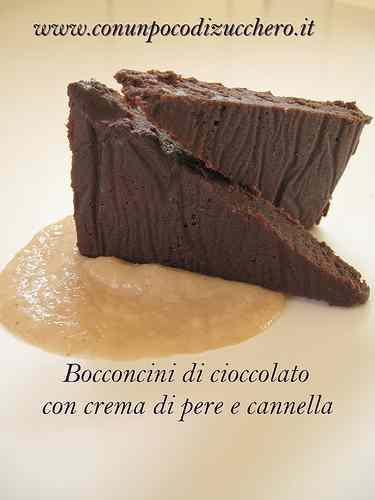 Ricetta: Bocconcini di cioccolato con crema di pere e cannella